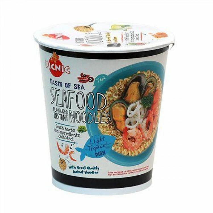 Лапша б\п Picnic со вкусом морепродуктов, 60 г