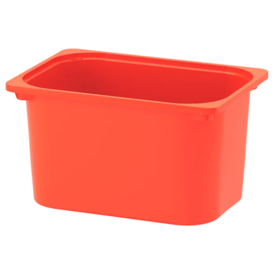 ТРУФАСТ Контейнер, оранжевый 42x30x23 см