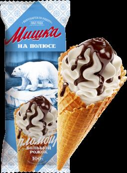 Мороженое Мишка на полюсе, пломбир БЗМЖ, сах.рожок 110 г.