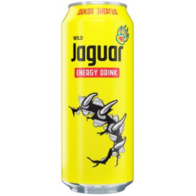 Напиток безалкогольный энергетический со вкусом тропических фруктов Jaguar Wild ж/б 0,5л