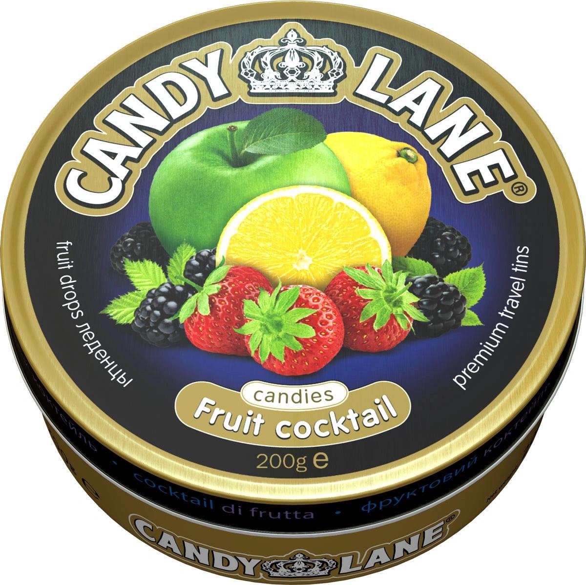 Леденцы CANDY Lane  фруктовые ягодные ж/б 200 гр.