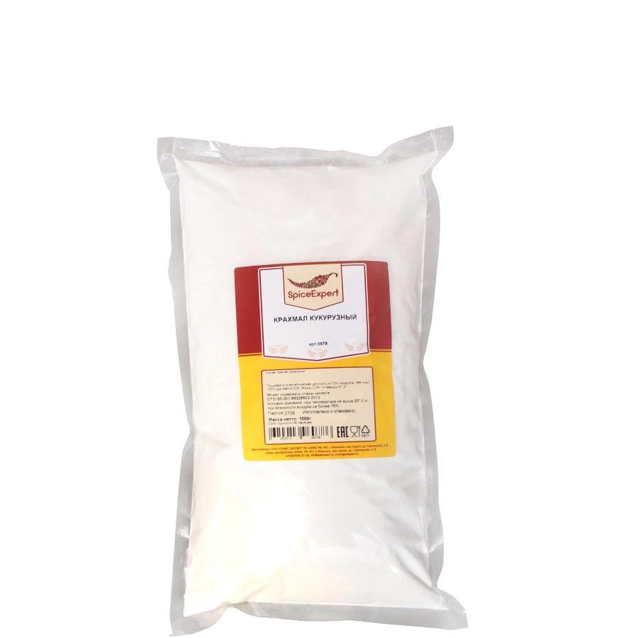 Крахмал кукурузный, SpiceExpert, полиэтиленовый пакет, 1 кг.