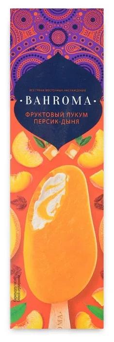 Мороженое BAHROMA, мол.ванильн. персик-дыня-маракуйя во фрукт.глазури БЗМЖ, эскимо 75 г.