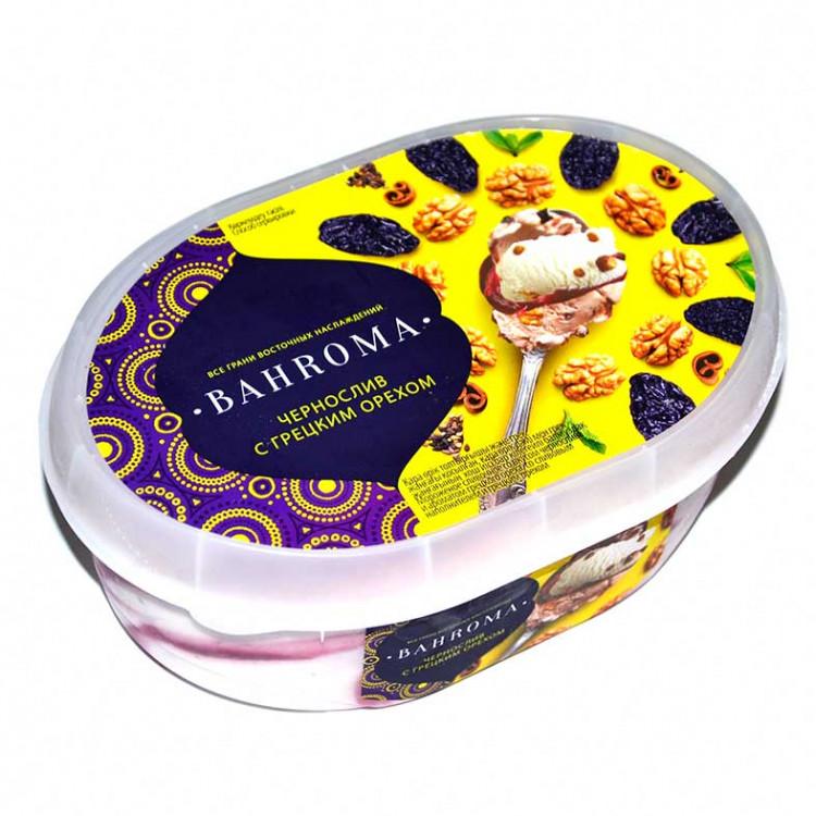 Мороженое BAHROMA, Чернослив-грецкий орех БЗМЖ, ванна 500 г