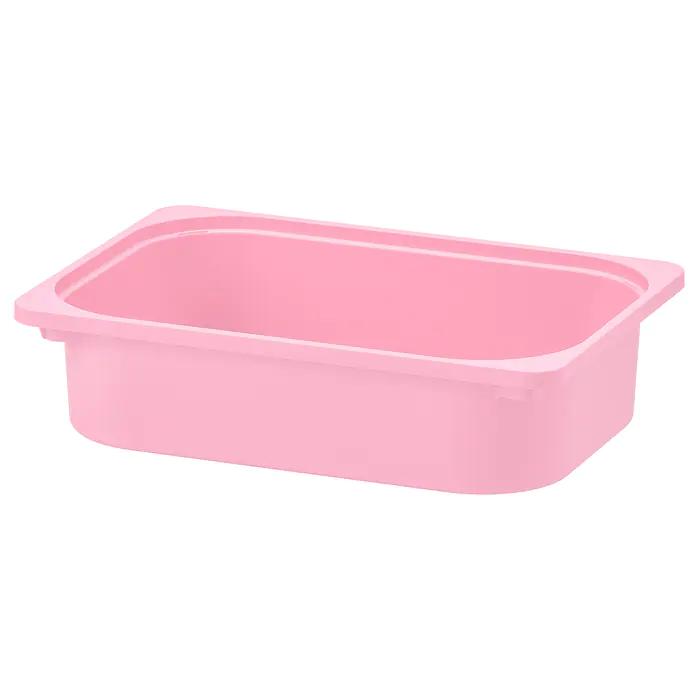 ТРУФАСТ Контейнер, розовый 42x30x10 см