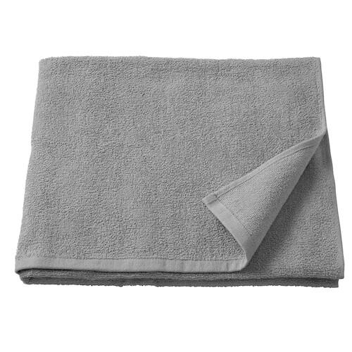 КОРНАН Банное полотенце, серый 70x140 см