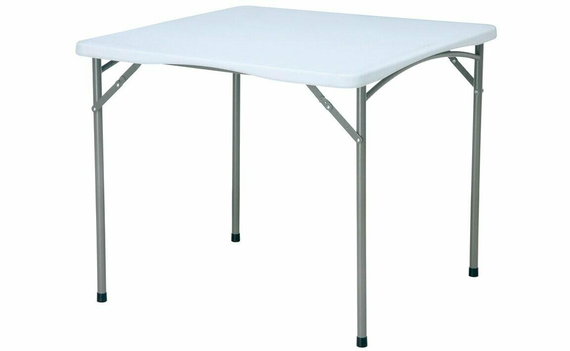 Стол складной, металлическая основа, 88x74 см