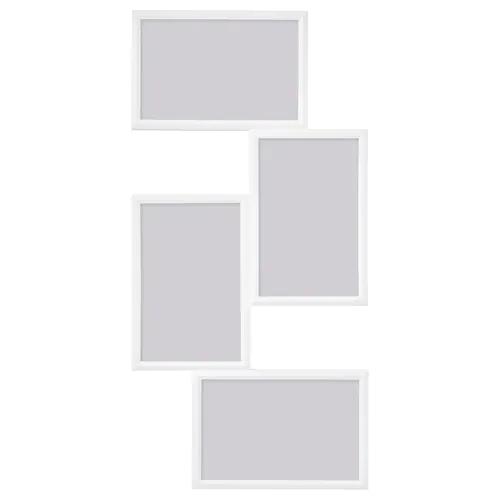 ЮЛЛЕВАД Рама для коллажа на 4фото, белый 21x41 см