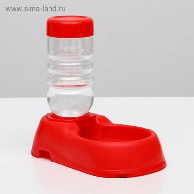 Автопоилка малая со съемной бутылкой, цвет микс