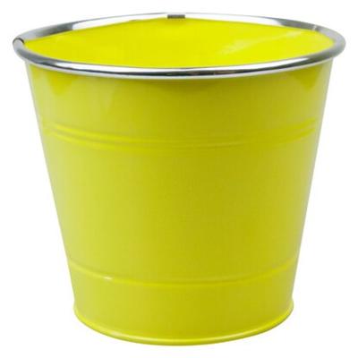 Кашпо цинковое в асс. 14х14х12 см