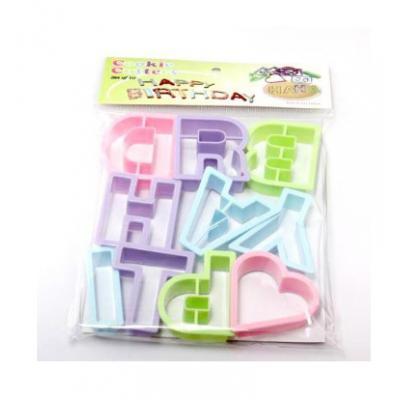 Набор формочек для печенья Буквы, 10 шт