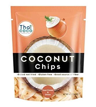 Кокосовые чипсы со вкусом сметаны и лука Thai Coco, 40 г