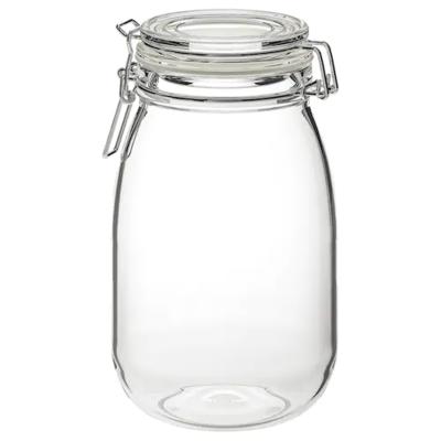 КОРКЕН Банка с крышкой, прозрачное стекло 1.8 л