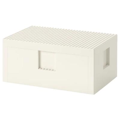 БЮГГЛЕК LEGO® контейнер с крышкой, белый 26x18x12 см