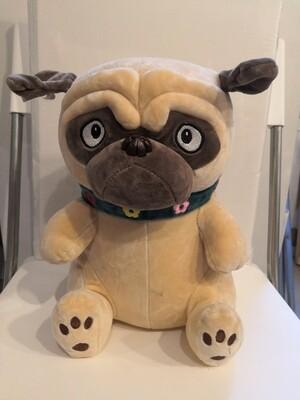 Мягкая игрушка, Собака Мопс 30 см