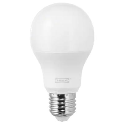 ЛЕДАРЕ Светодиод E27 1000 лм, регулируемая яркость, теплый/шарообразный молочный