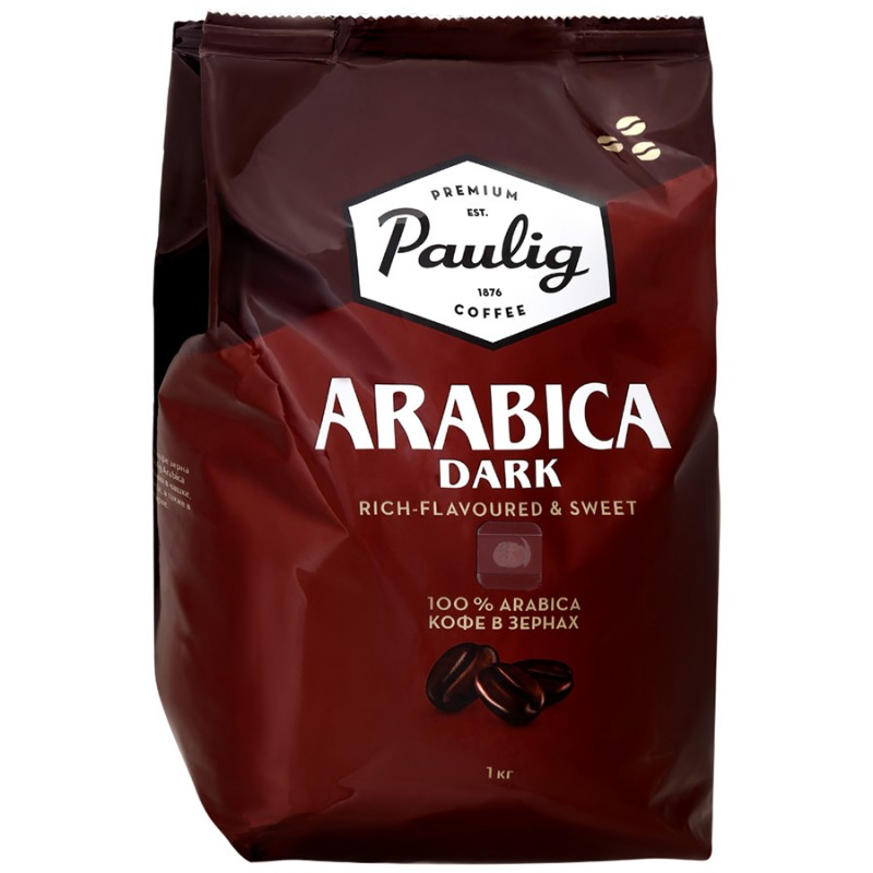 Кофе Paulig Arabica Dark зерно, 1кг