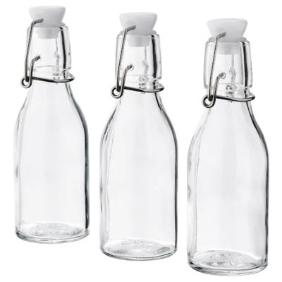 КОРКЕН Бутылка с пробкой, прозрачное стекло 15 сл