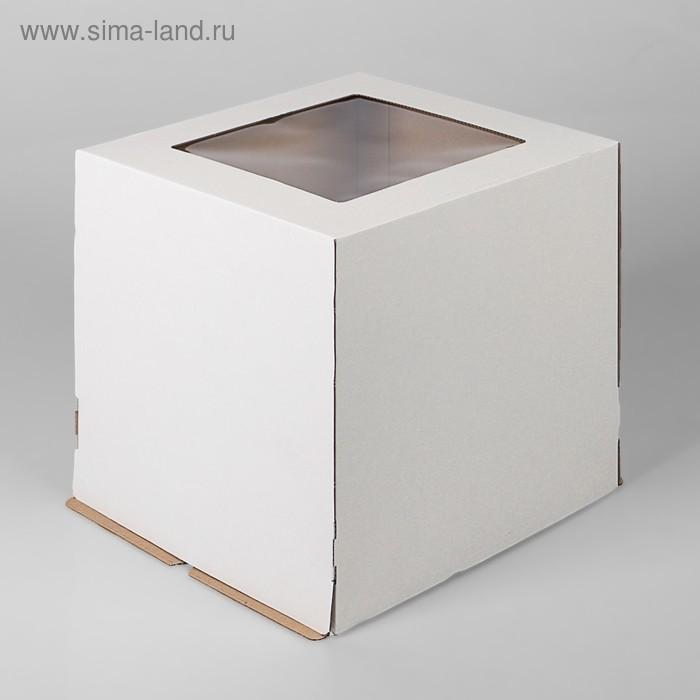 Кондитерская упаковка с окном, цвет в асс. 30 х 30 х 30 см