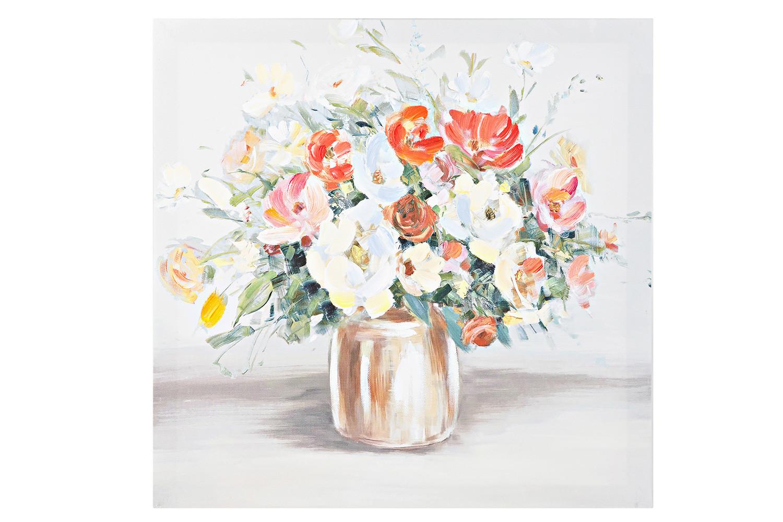Репродукция Цветы в вазе 40x40 см