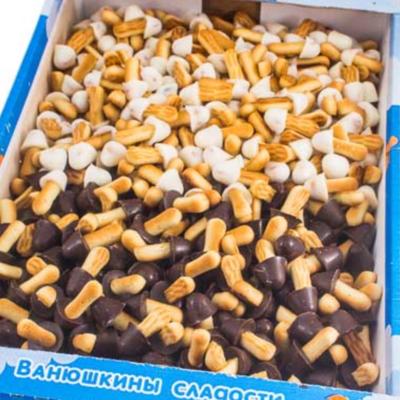 Печенье сахарное Опята, в белой/темной глазури 1,6 кг