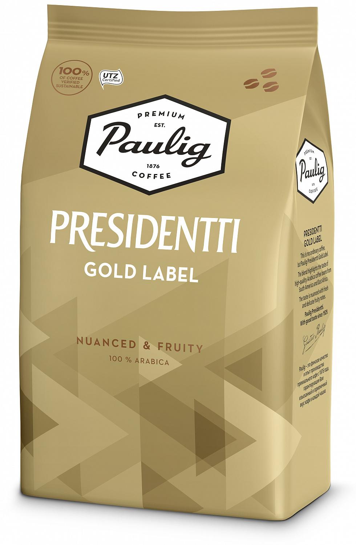 Кофе Paulig Presidentti Gold зерно 1кг