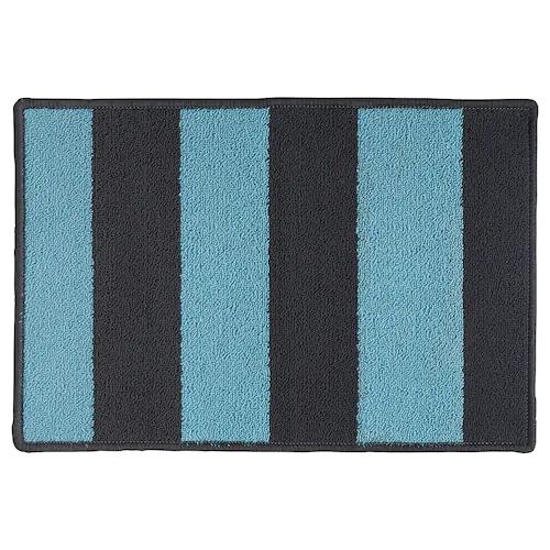 СТАВН Придверный коврик, серый/синий 40x60 см