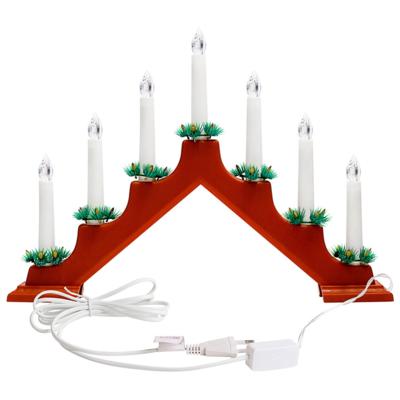 Светильник декоративный Горка рождественская, 7 миниламп