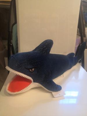 Мягкая игрушка, Акула с зубами 35 см
