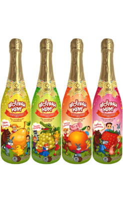 """Напиток сокосодержащий """"Детское шампанское. Веселый круг/Волшебное"""", в асс. 750 мл"""