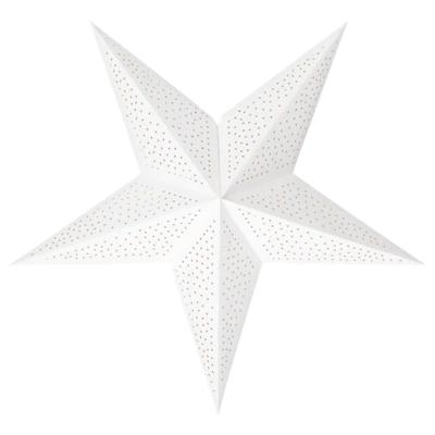 СТРОЛА Абажур, точечный белый 70 см