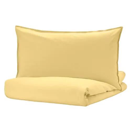 ЭНГСЛИЛЬЯ Пододеяльник и 1 наволочка, светло-желтый 150x200/50x70 см