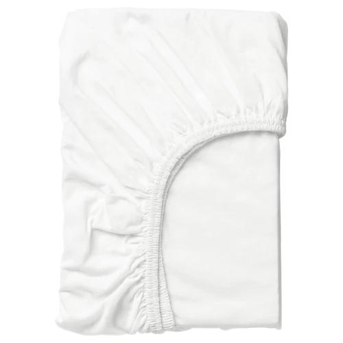 ЛЕН Простыня натяжная, белый 70x160 см