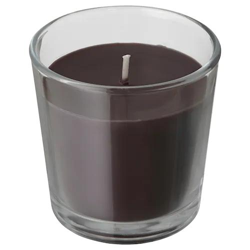 СИНЛИГ Ароматическая свеча в стакане, Перец/черный 7.5 см