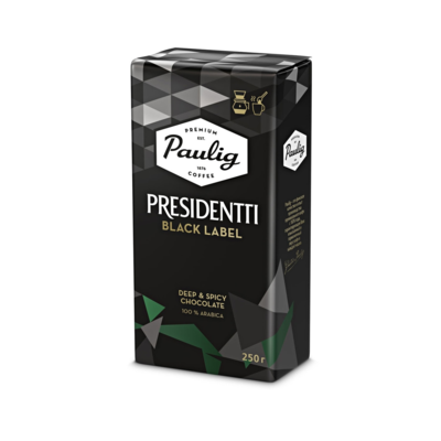 Кофе Paulig Presidentti Black молотый, 250 г