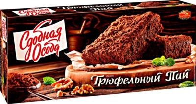 Десерт шоколадный Пирог Трюфельный пай, Сдобная особа 0,38 кг