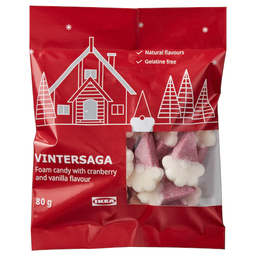 Фигурные конфеты VINTERSAGA, с клюквой и вкусом ванили 80 г