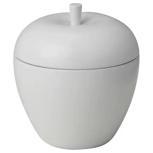 АНСПРОКСЛЁС Ароматическая свеча, яблоки/Яблоко и груша белый 9 см