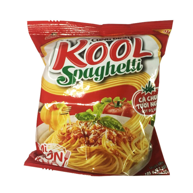 Лапша б\п Kool спагетти со вкусом томатов и говяжьим фаршем, 105 г