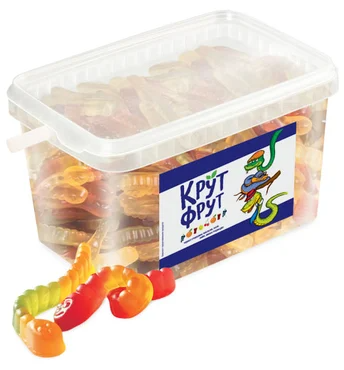 Мармелад жевательный КрутФрут, Змейка (фрукт.микс) 1,3 кг