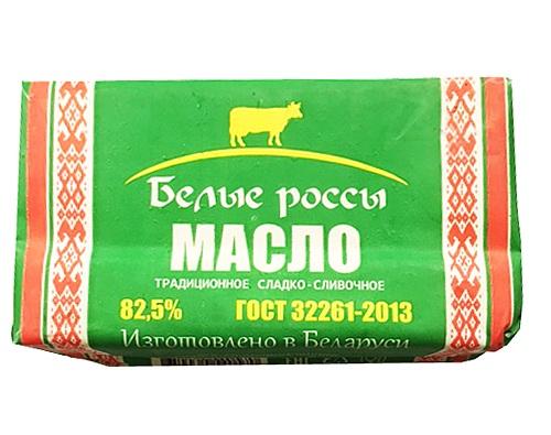 Масло сливочное 82,5% Белые россы, 180 г