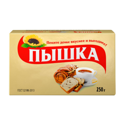 Маргарин для выпечки Пышка, 250 г