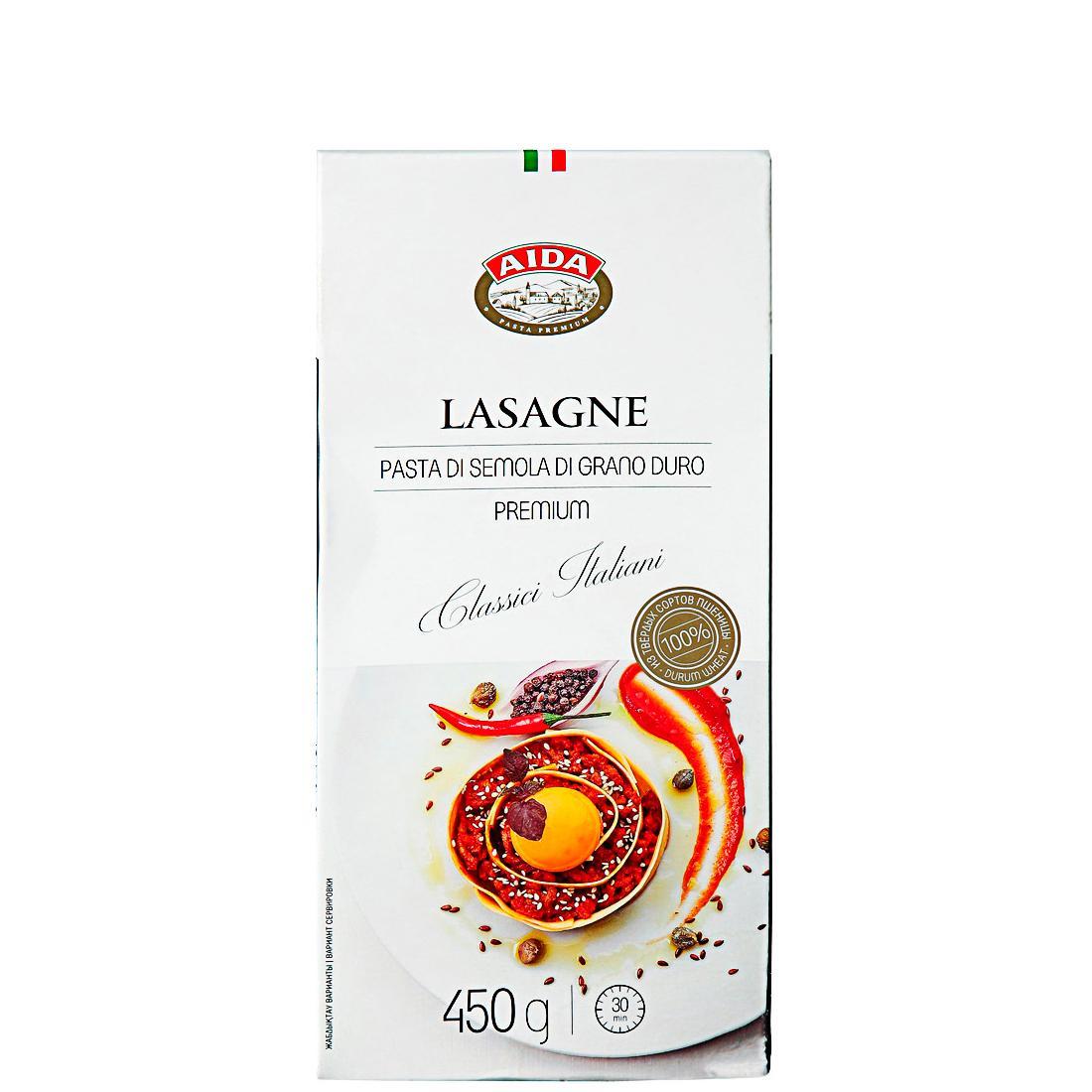 Макаронные изделия Лазанья, AIDA 450 г