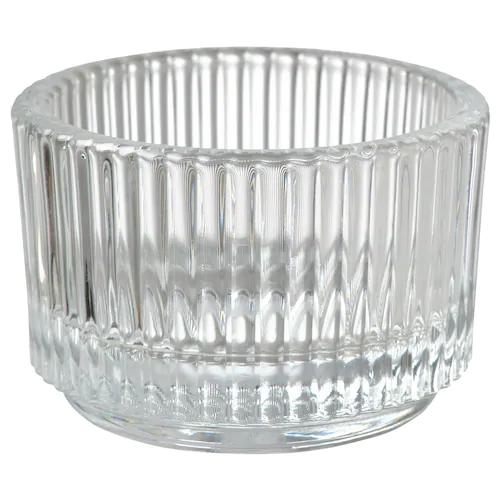 FINSMAK Подсвечник для греющей свечи, прозрачное стекло 3.5 см