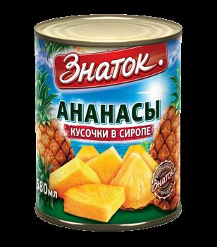 Ананасы консервированные в сиропе Знаток, 850 мл