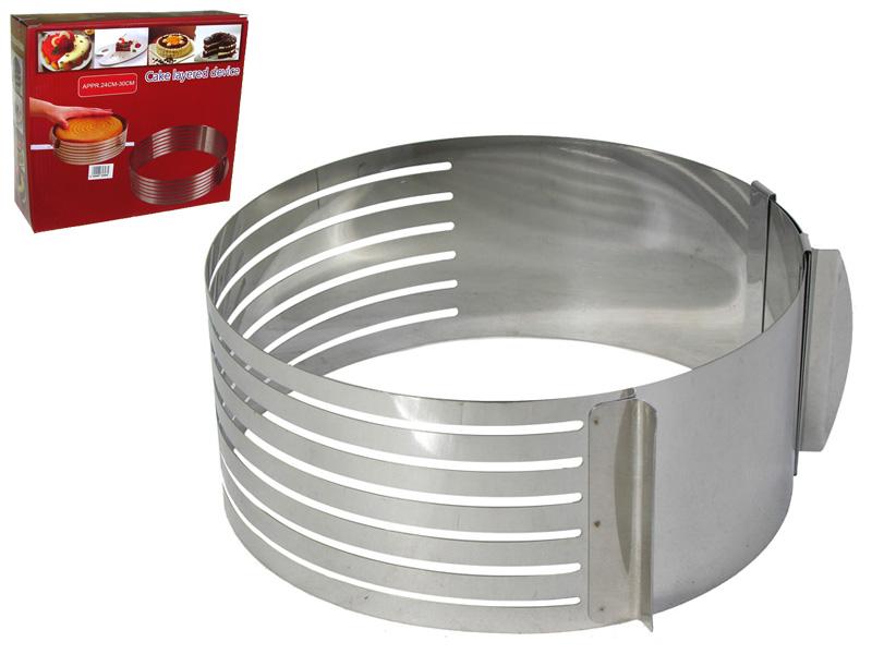 Кольцо регулируемое для нарезки коржей с регулировкой размера 16-20 см