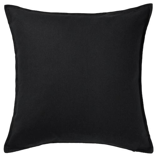 ГУРЛИ Чехол на подушку, черный 50x50 см
