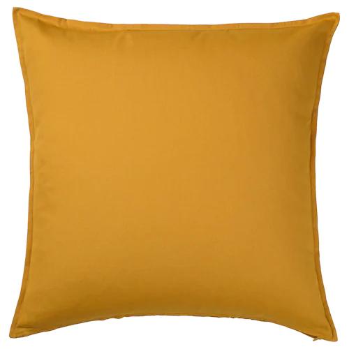 ГУРЛИ Чехол на подушку, золотисто-желтый 65x65 см