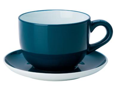 НОРДБИ Чашка чайная с блюдцем, темная бирюза 73 сл