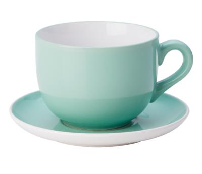 НОРДБИ Чашка чайная с блюдцем, светло-зеленый 73 сл